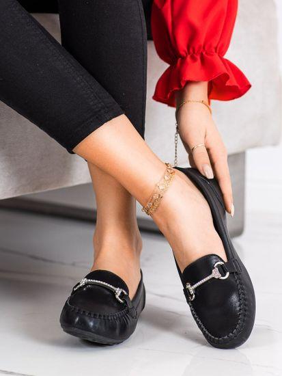 Női mokaszin 70692 + Nőin zokni Gatta Calzino Strech, fekete, 37