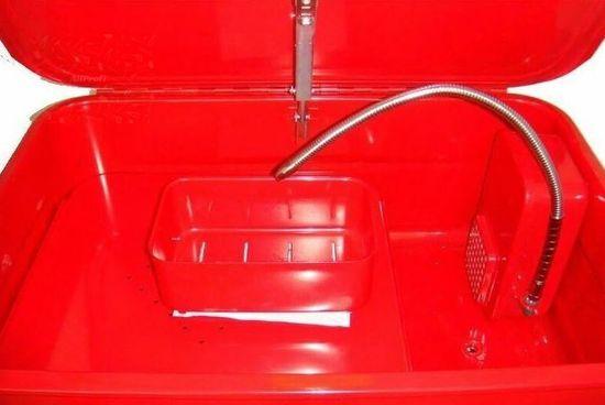 Torin BIG RED Umývací stôl 75 litrov, elektrické čerpadlo a tryska
