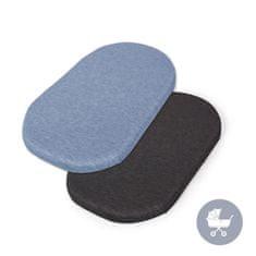Ceba Baby Prostěradlo do kočárku 73-80 x 30-37 cm 2 ks Dark Grey+Blue
