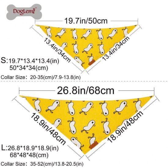 DogLemi rutka, pasja, rumena, 20-35 cm