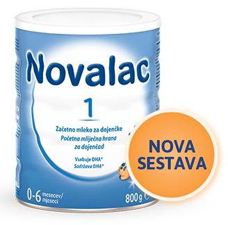 Novalac 1 začetno mleko za dojenčke, 800 g