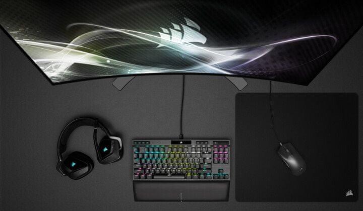 Gaming egér Corsair Ironclaw RGB, fekete (CH-9307011-EU), ellenállás, hosszú élettartam, 50millió kattintás, Omron kapcsolók