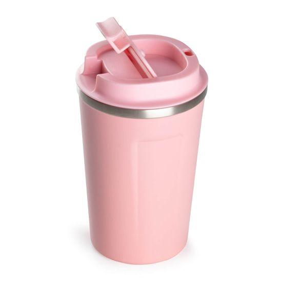 Rosmarino termo lonček za kavo, 350 ml, roza