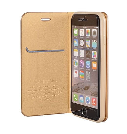 Havana Premium ovitek za Samsung Galaxy A51, preklopni, zlat