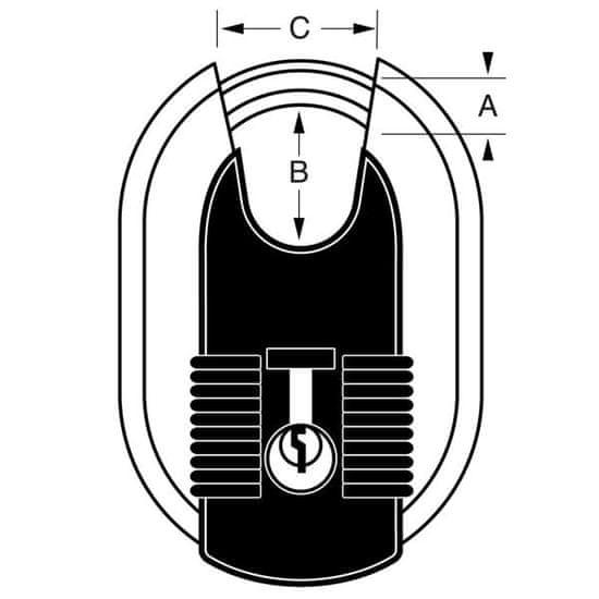 MasterLock M187EURD Titanový visací zámek - 60mm