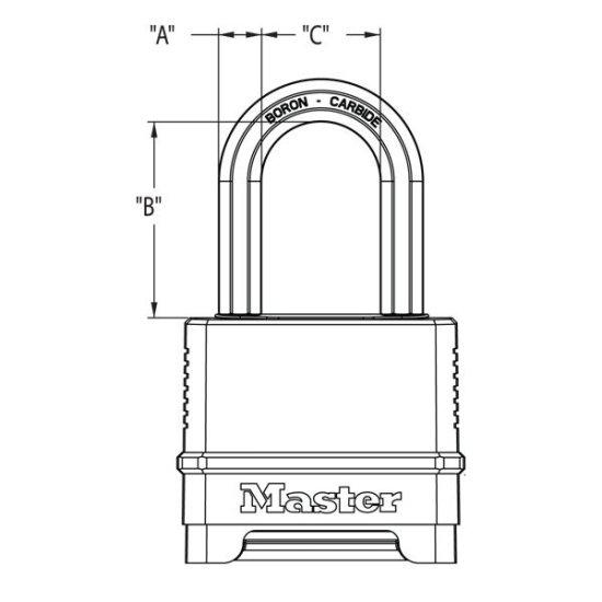 MasterLock Kombinační visací zámek M178EURD - Master Lock Excell - 56mm
