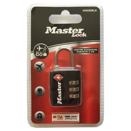 MasterLock 4680EURDBLK Visací kombinační zámek TSA