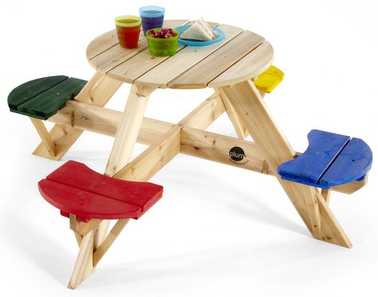 PLUM dječji drveni stol za piknik sa stolicama