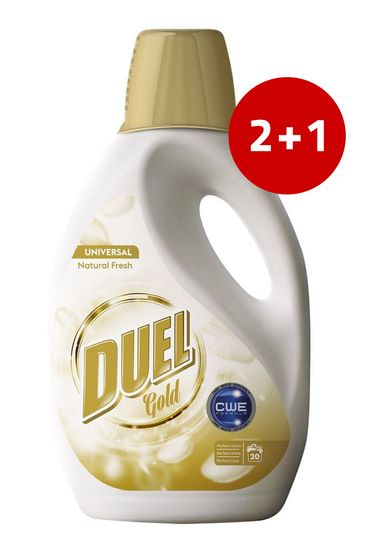 Duel Gold Natural Fresh tekući deterdžent za rublje, 1300 ml, 2+1
