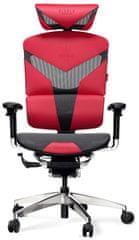 Diablo Chairs V-Dynamic, fekete/piros (5902560335439)