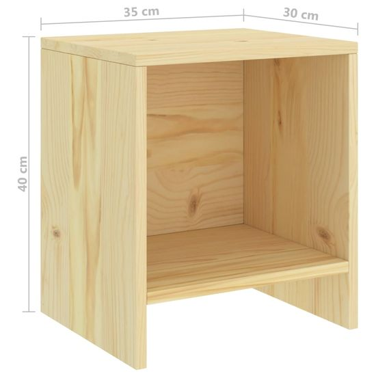 shumee Szafka nocna, jasne drewno sosnowe, 35x30x40 cm