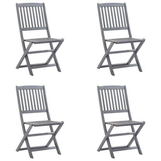 shumee Skladacie záhradné stoličky 4 ks Vankúše z agátového dreva