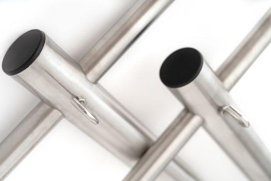 SAPEKOR Venkovní zahradní sušák na prádlo z nerezové oceli (komplet 1 pár)
