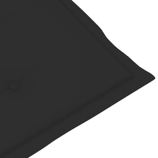 shumee Poduszka na leżak, czarna, (75+105)x50x4 cm