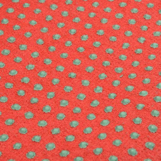 shumee Sztuczna trawa, spód z wypustkami, 2x1 m, czerwona