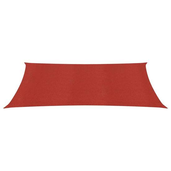 shumee Żagiel przeciwsłoneczny, 160 g/m², czerwony, 3x5 m, HDPE
