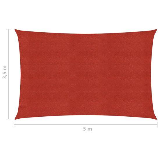 shumee Żagiel przeciwsłoneczny, 160 g/m², czerwony, 3,5x5 m, HDPE