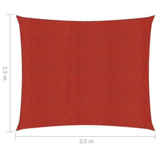 shumee Żagiel przeciwsłoneczny, 160 g/m², czerwony, 2,5x2,5 m, HDPE
