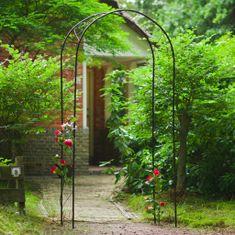 shumee Nature Vrtni obok kovinski 100x37x230 cm črn
