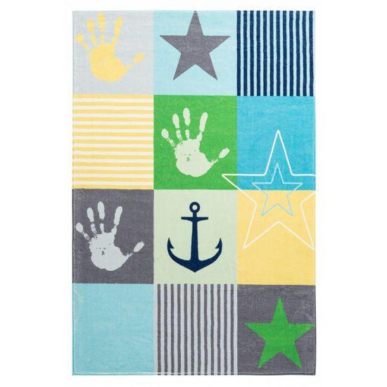Jutex Detský koberec Stars 411 modrý