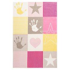 Jutex Detský koberec Stars 411 ružový 1.70 x 1.20