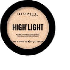 Rimmel Bőrvilágosító High´light (Buttery Soft Highlighting Powder) 8 g (Árnyék 002)