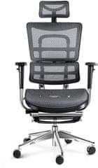 Diablo Chairs V-Master, fekete/szürke (5902560334494)