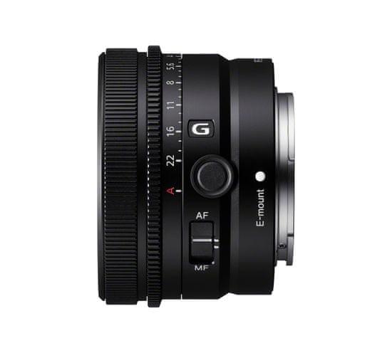 Sony 24 mm F2,8 G objektiv, črn (SEL24F28G.SYX)