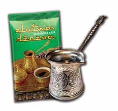 džezva za kavo, indukcija, 200 ml, srebrna + kava, 100 g