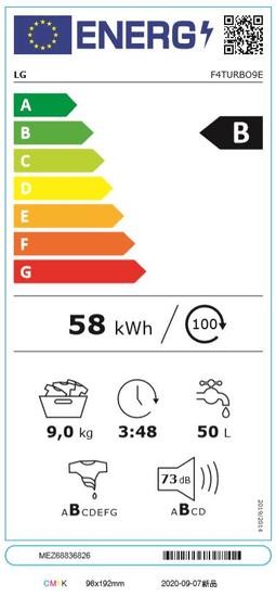 LG automatická parní pračka F4TURBO9E + 10 let záruka na motor