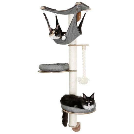 Kerbl Nástěnné škrabadlo pro kočky Dolomit 2.0 Tofana šedé 160cm 81545