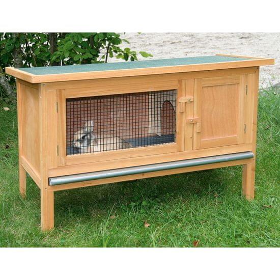 Kerbl Domek pro hlodavce / králíkárna Fred, dřevěný, hnědý 82816