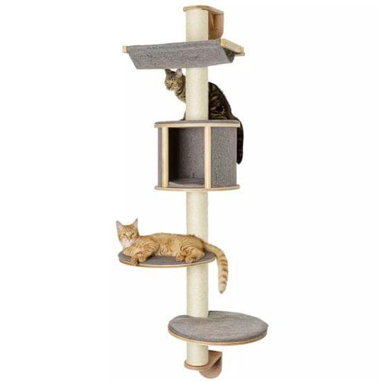 Kerbl Nástěnné škrabadlo pro kočky Dolomit Tofana šedé 168 cm 81540