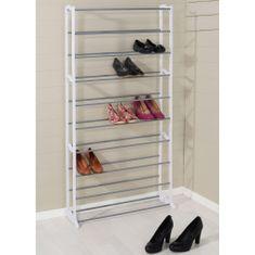 shumee Stojalo HI za 40 parov čevljev, valovite oblike, bele barve