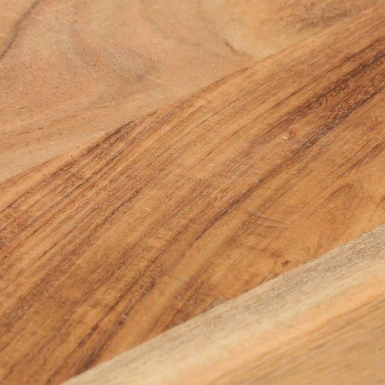 shumee Stolik boczny, 45x35x48 cm, jasne drewno akacjowe i żeliwo