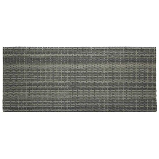 shumee szürke polyrattan kerti bárasztal 140,5 x 60,5 x 110,5 cm