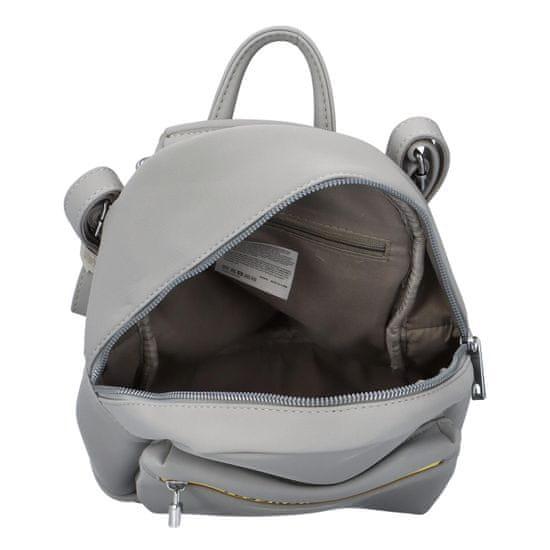 Maria Marni Dámský koženkový batoh Sybil Lara, šedý