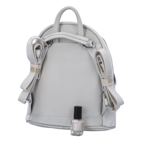 Maria Marni Dámský koženkový batoh Sybil Lara, stříbrný
