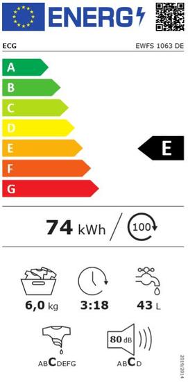 ECG Pralka automatyczna EWFS 1063 DE