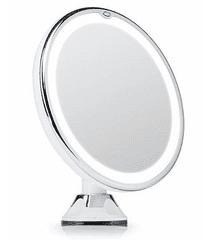 iQtech iMirror Magnify 10, kosmetické Make-Up zrcátko zvětšující 10x LED bílá
