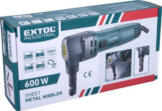 Extol Industrial Nožnice na plech elektrické vystrihovacie, 600W, max. 2,5mm