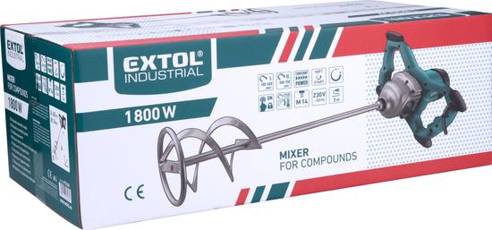 Extol Industrial Miešadlo stavebné, 1800W, 2 rýchlosti, 180-400/300-700 ot/min