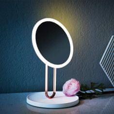 iQ-Tech iMirror Balet, kosmetické Make-Up zrcátko, nabíjecí LED Line růžová