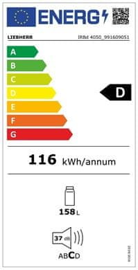 Liebherr IRBd 4050 vgradni hladilnik