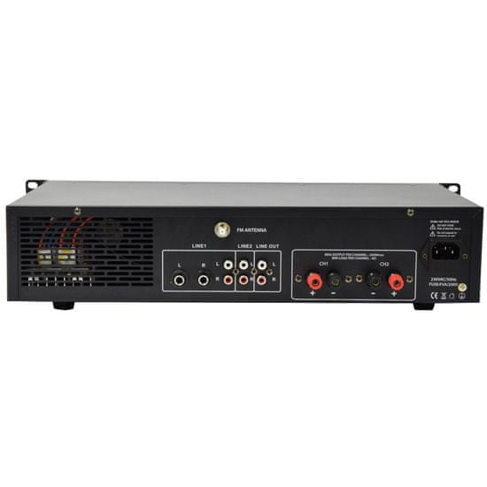 Adastra A2, stereo PA zesilovač, MP3/SD/USB/BT/FM, 2x 200W