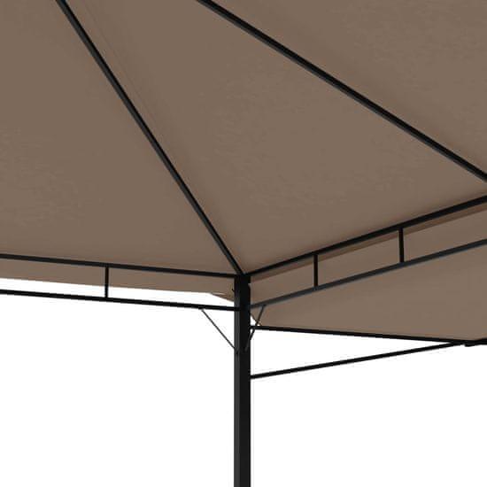 shumee tópszínű pavilon dupla kibővített tetővel 3x3x2,75 m 180 g/m²