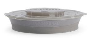Twistshake Dělený talíř 6+m pastelově šedý 210 ml + 2 x 90 ml