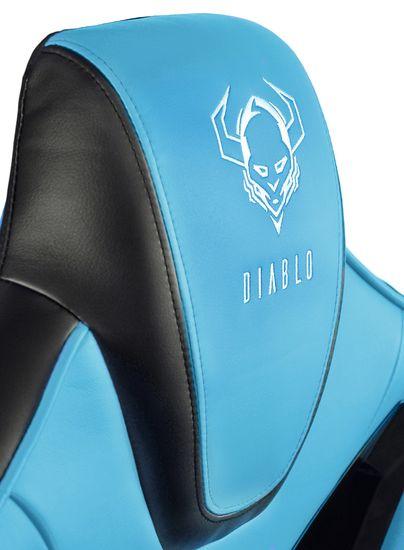 Diablo Chairs X-Fighter, černá/modrá (5902560333244)