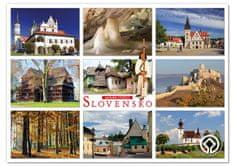 tvorme veľká pohľadnica (A5) - Slovensko, pamiatky UNESCO (vhodné pre Postcrossing, Zberatelia)
