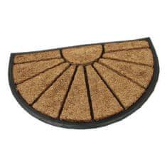 FLOMA Kokosová čistící venkovní půlkruhová vstupní rohož Sun - délka 45 cm, šířka 75 cm a výška 2,2 cm